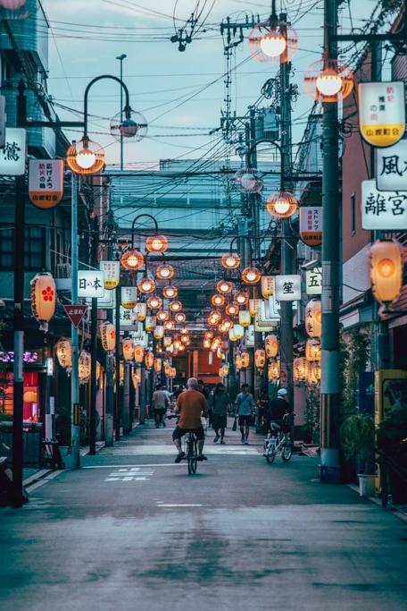 Tobita Shinchi street. Shinsekai, Osaka
