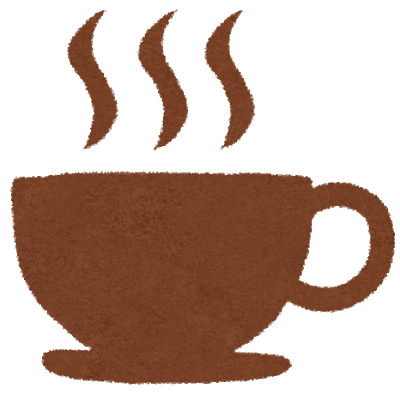 illustration of a hot cup of coffee