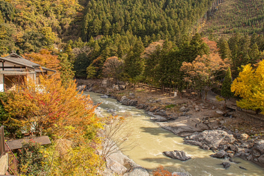 landscape of mitake gorge