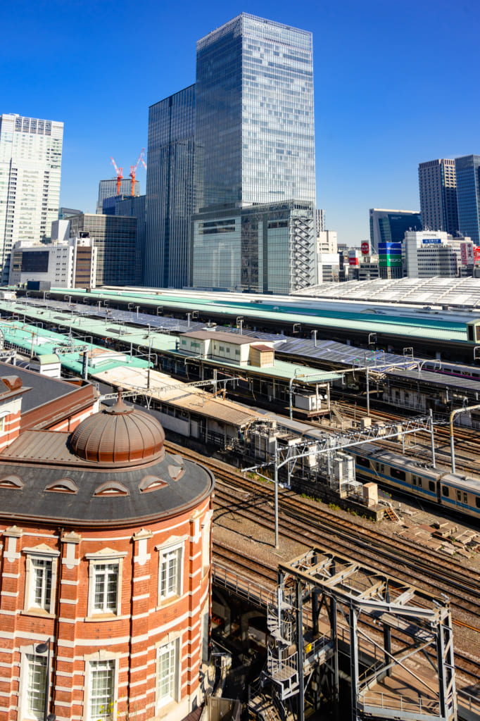 Aerial view of Tokyo Station