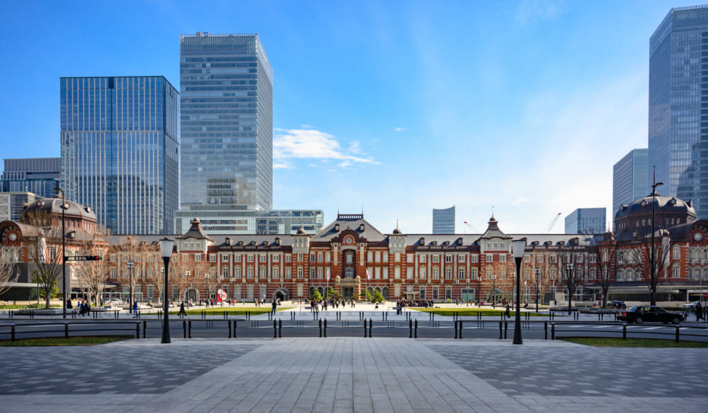Historic West exit of Tokyo Station
