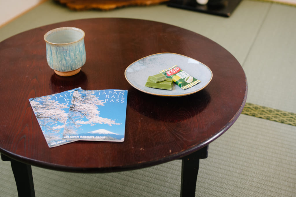 JR Pass on a Japanese table in tatami room