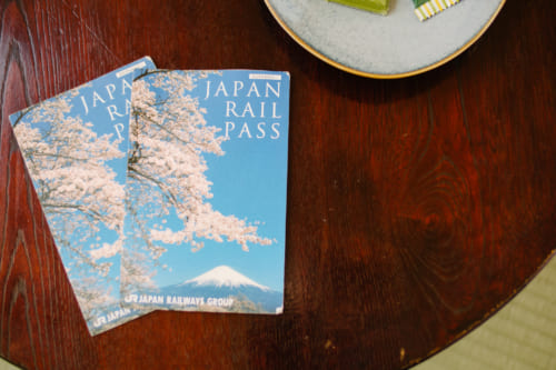 Japan Rail Pass and Kit Kats on a table
