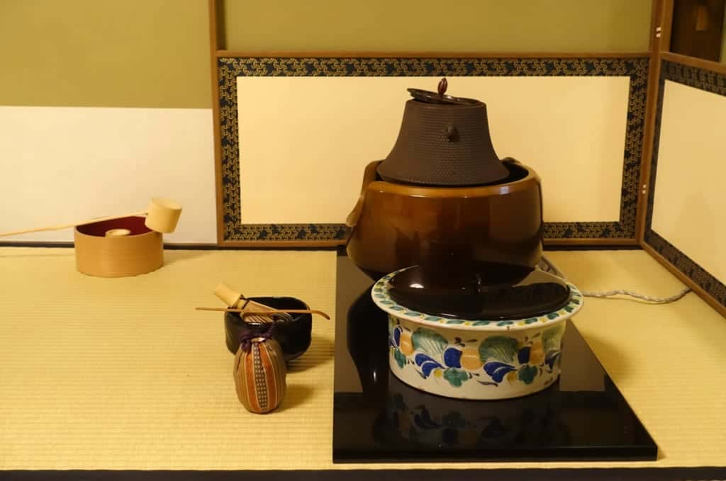 The many detailed utensils of a Japanese Tea ceremony