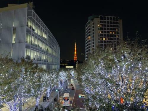 Christmas lights in Roppongi Hills