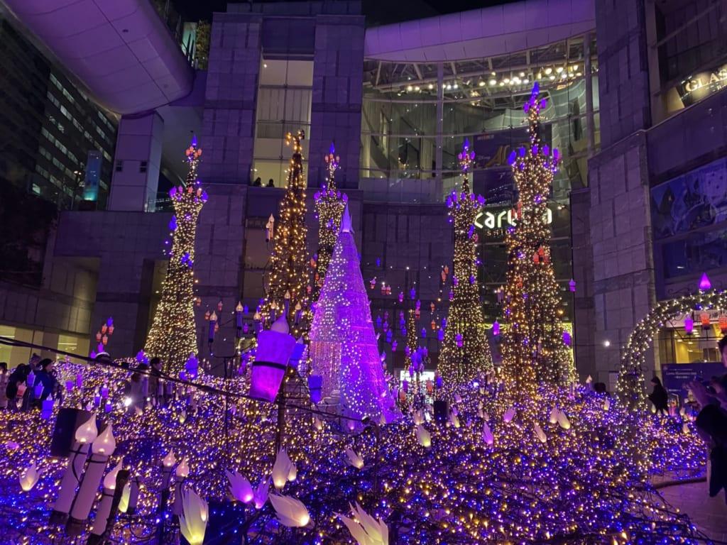 Caretta Shiodome Winter illuminations in Tokyo