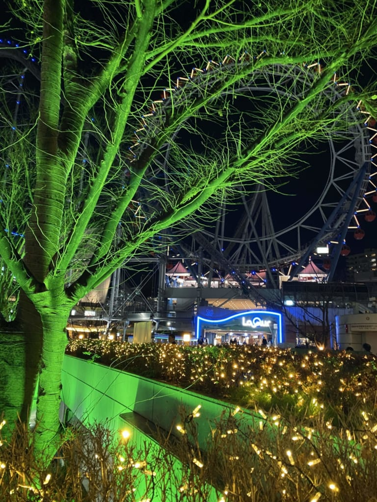 Details of the illuminations in Tokyo Dome
