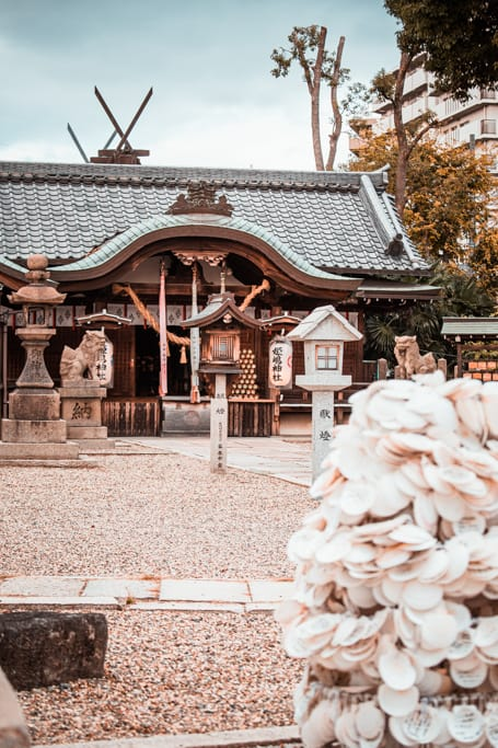 Main hall. Himejima shrine, Osaka