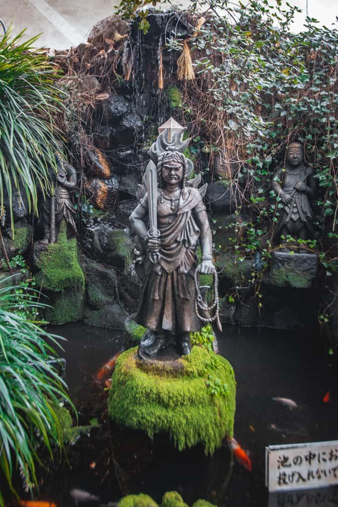 Fudo Myoo, buddhism deity. Senkoji temple, Osaka