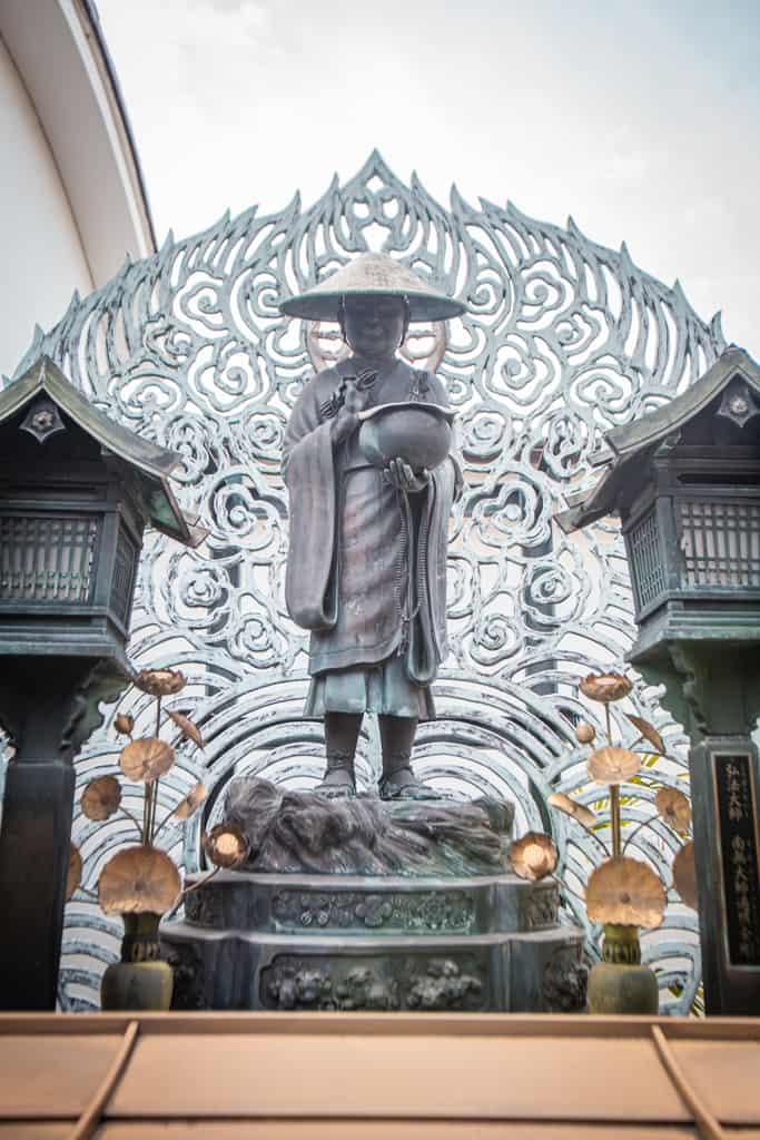 Statue in Fudo Myoo, buddhism deity. Senkoji temple, Osaka