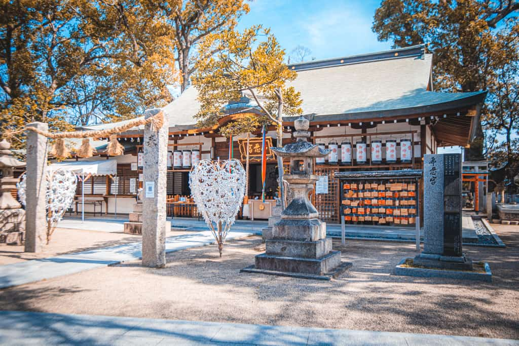 Nunose shrine main hall. Osaka