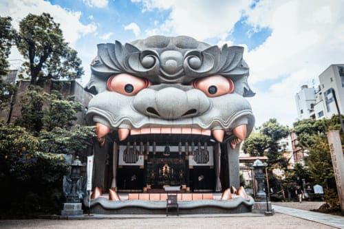 General view of Yasaka Namba Shrine, Osaka