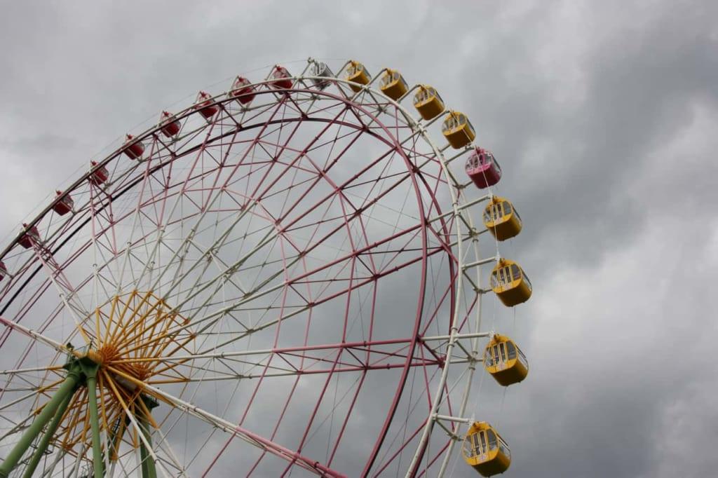 Ferris Wheel over a cloudy sky
