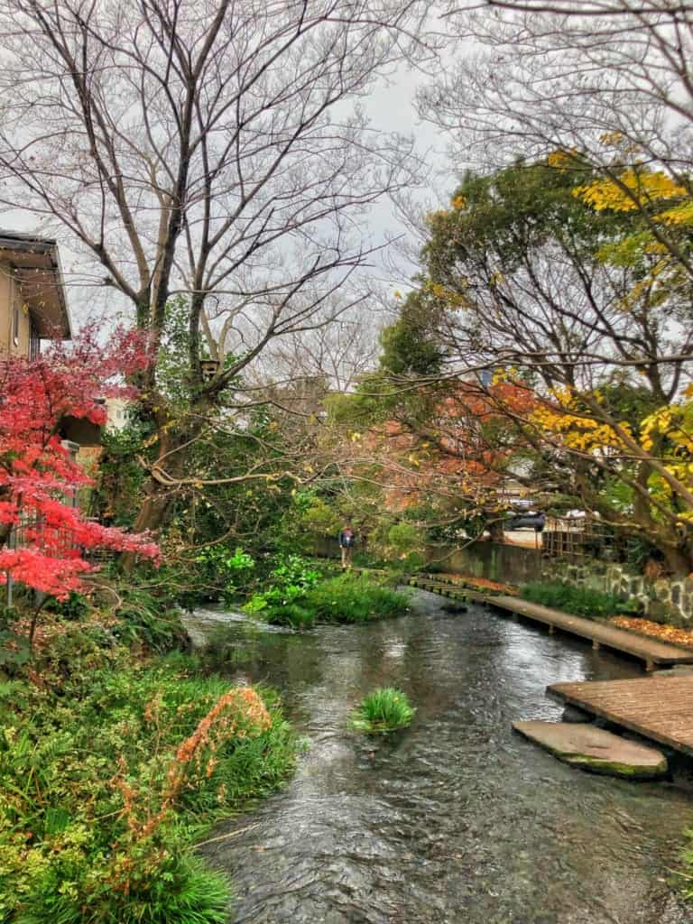 The picturesque Genbegawa along the Hakone Hachiri