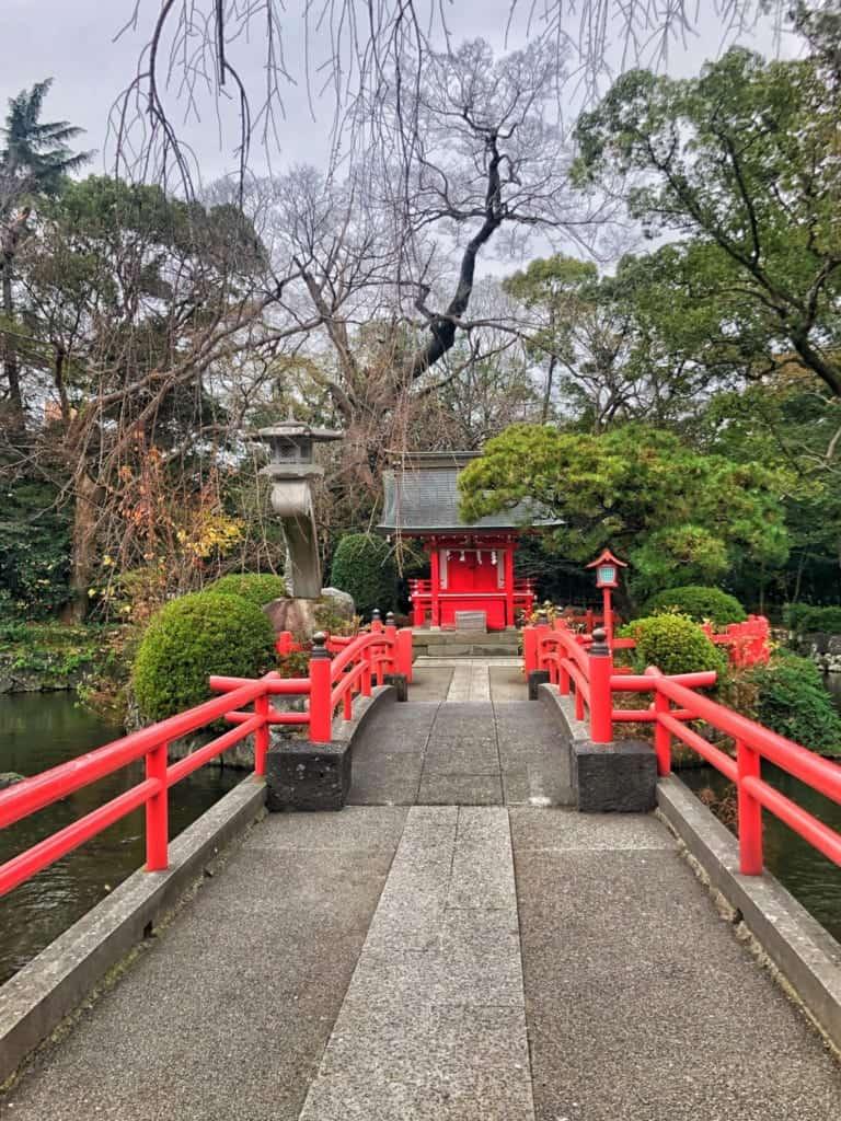 a mini shrine to the goddess of sewing at Mishima Taisha along Hakone Hachiri