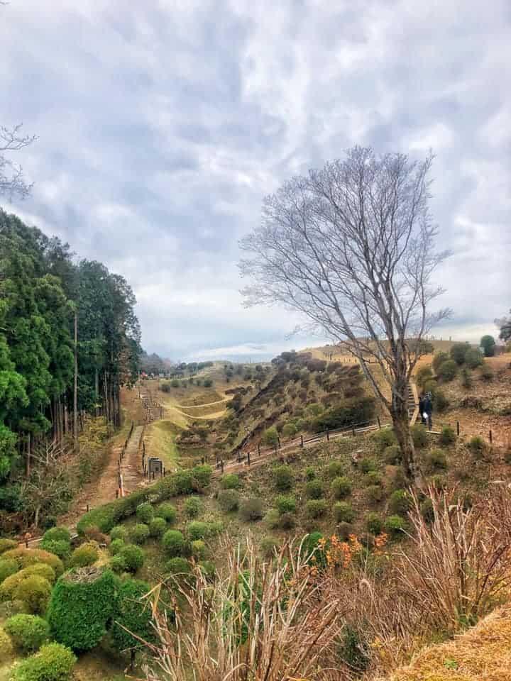 The grounds of Yamanaka castle along Hakone Hachiri on the Tokaido Road