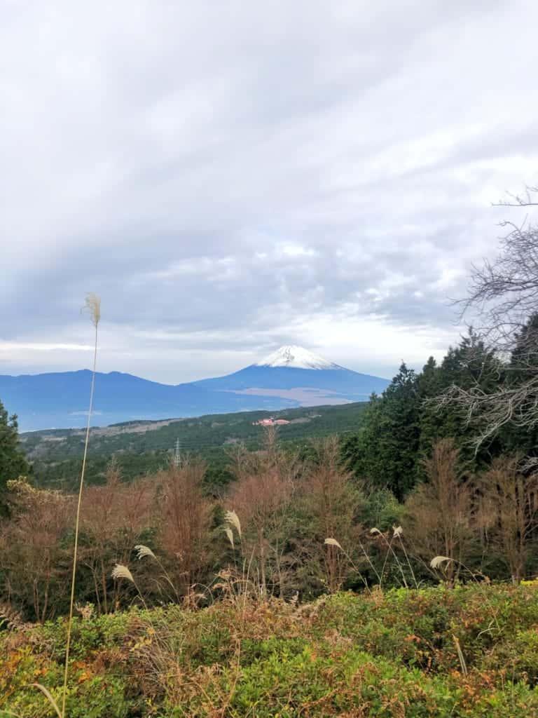 Beautiful views of Mt Fuji from Yamanaka Castle on the Hakone Hachiri on the Tokaido Road