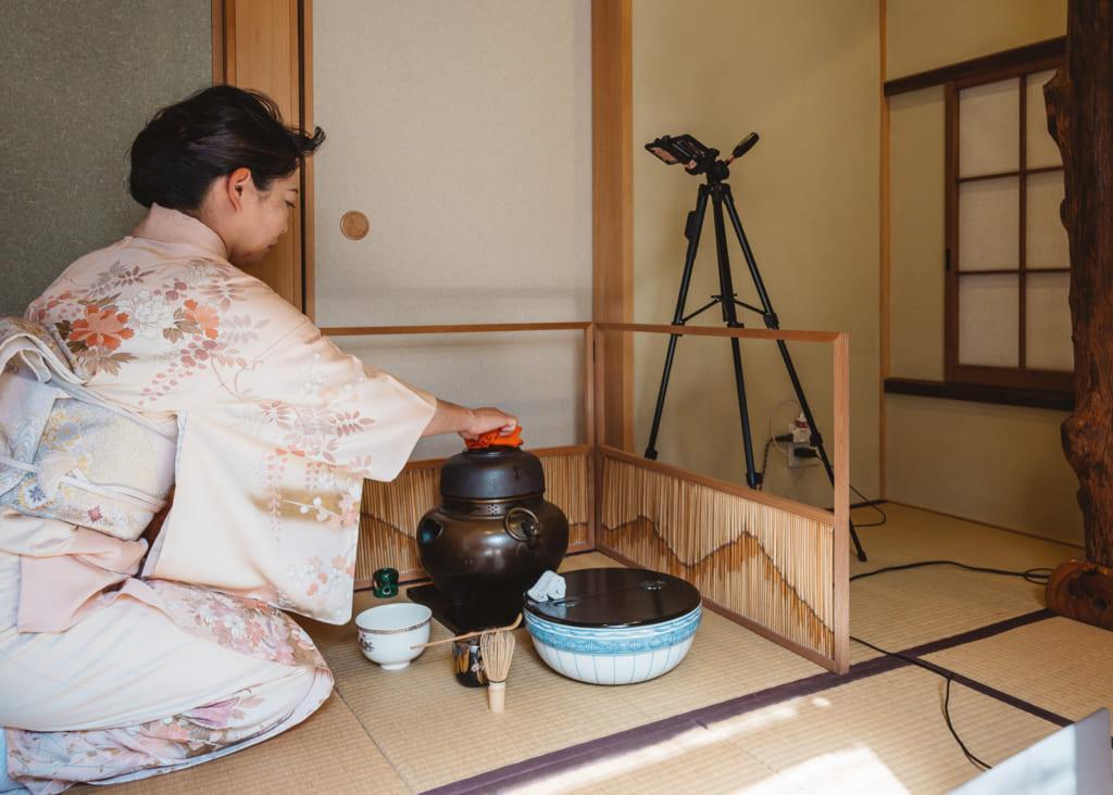 performing tea ceremony online