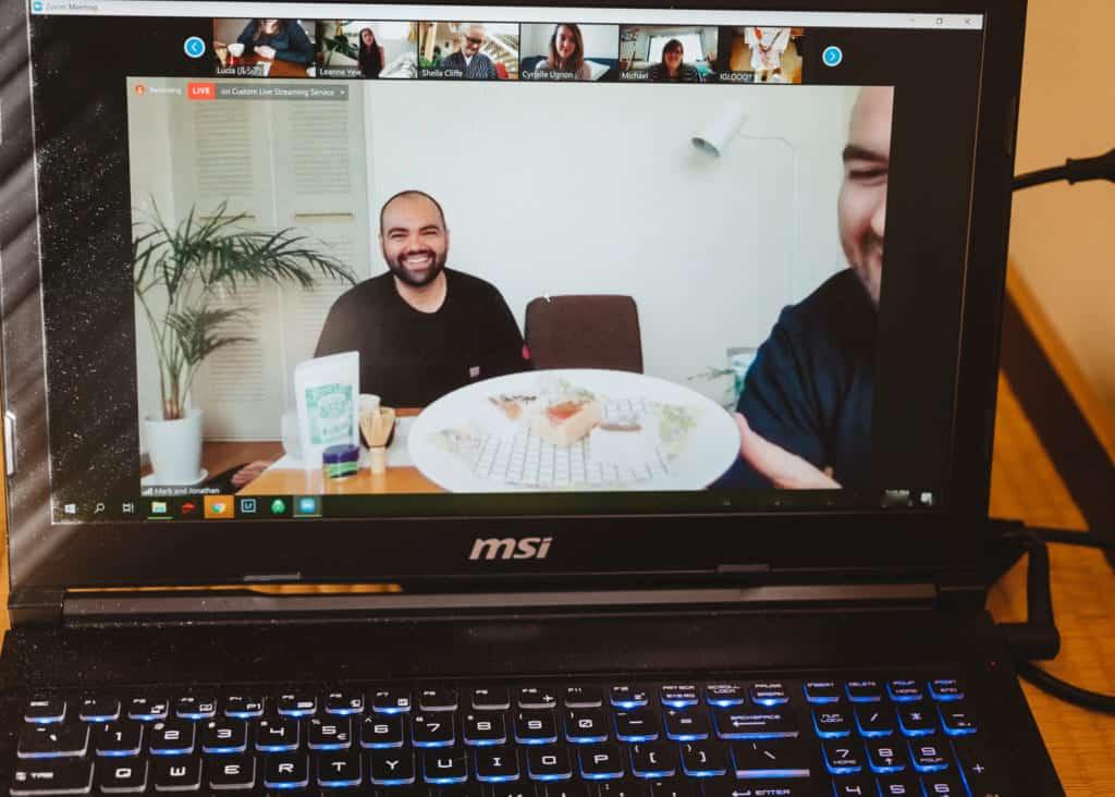 participants of an online tea ceremony