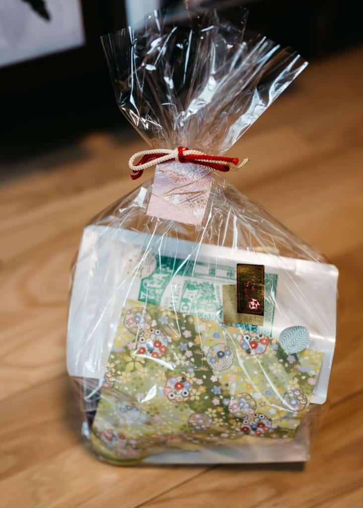 gift bag of tea ceremony utensils
