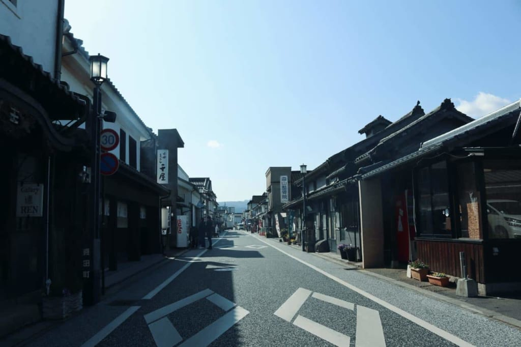 General view of Mameda Town in Hita, Oita, Japan