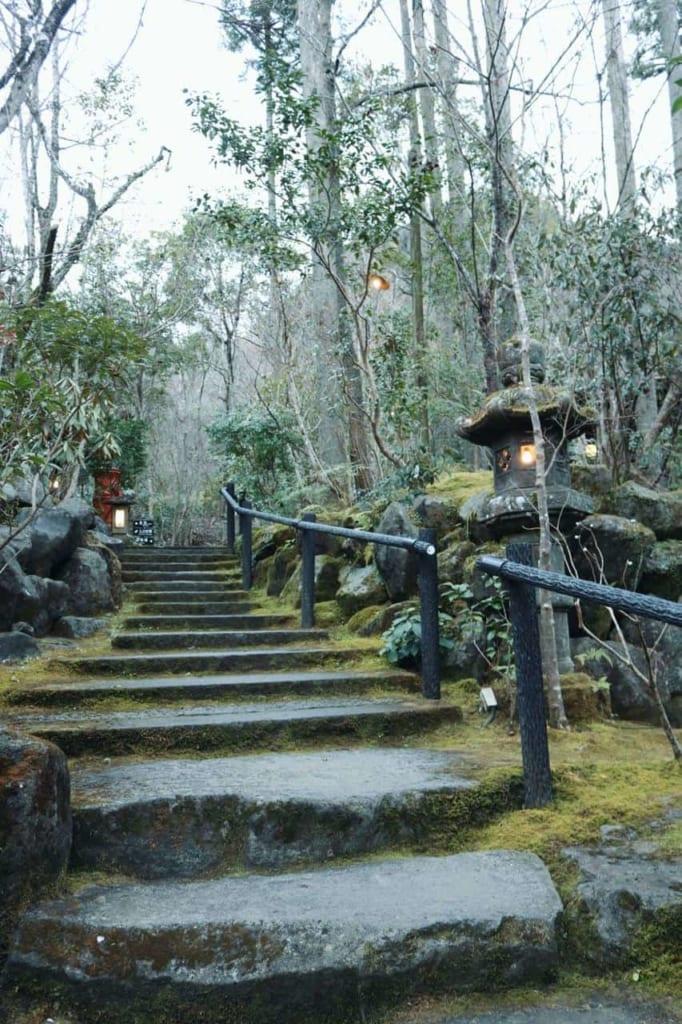Entrance of the Tensui ryokan in Hita, Oita, Japan