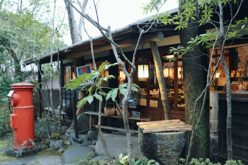 The souvenir shop next to the ryokan