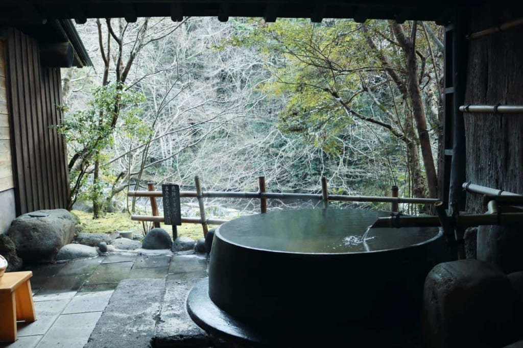 One of the 5 onsens at the ryokan.