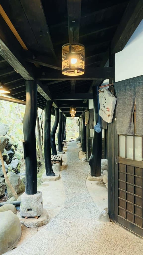 Entrance of the privat onsen.