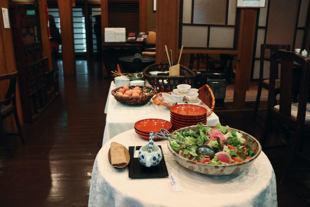 The ryokan breakfast in Tensui
