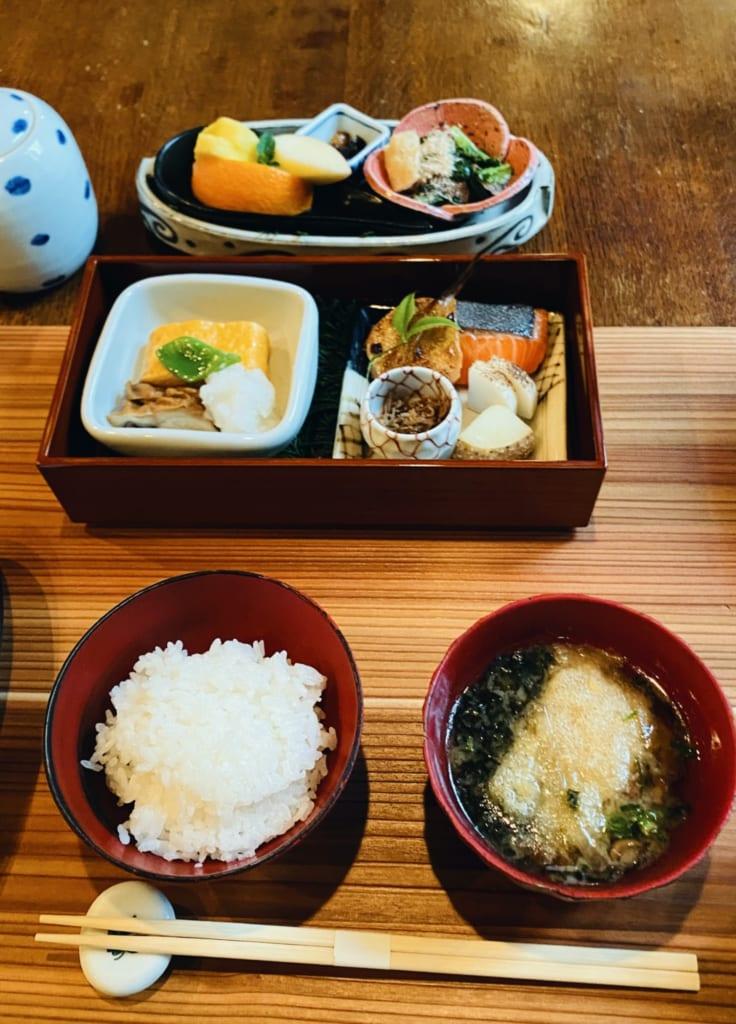 The ryokan breakfast in Tensui