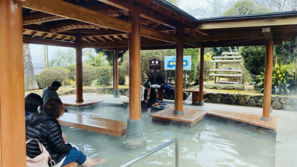 Foot onsen in the Sea's Hell
