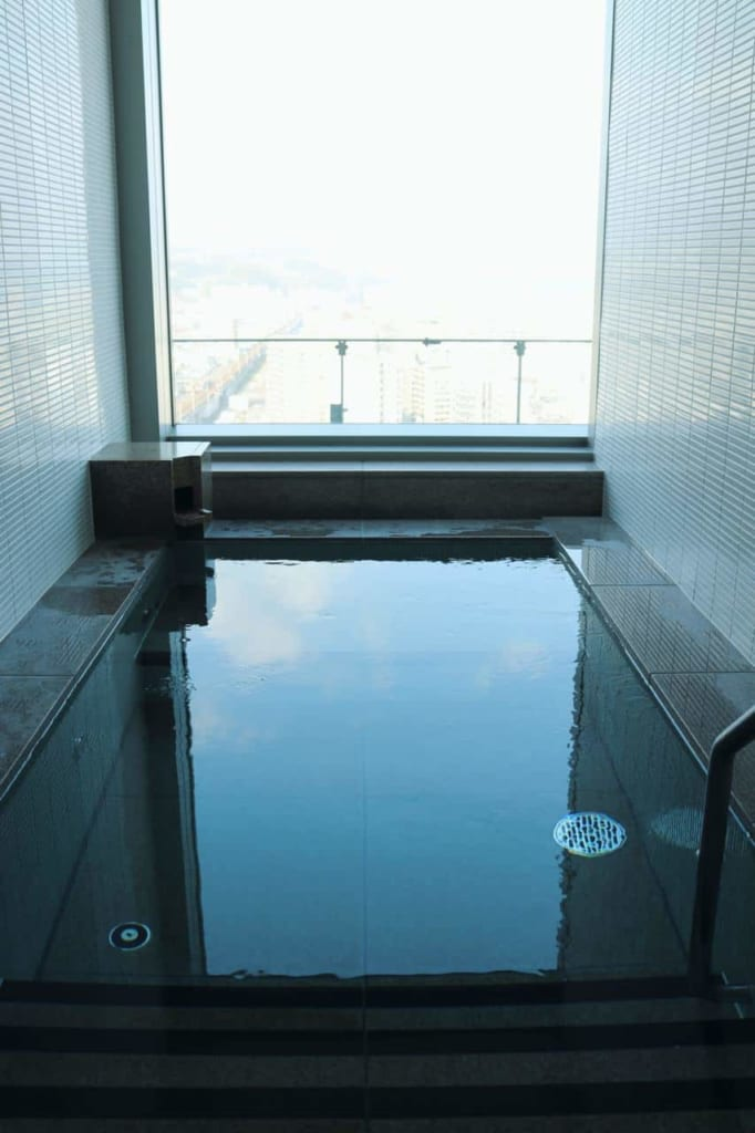 Cold pool at the City Spa Tenku in Oita, Japan