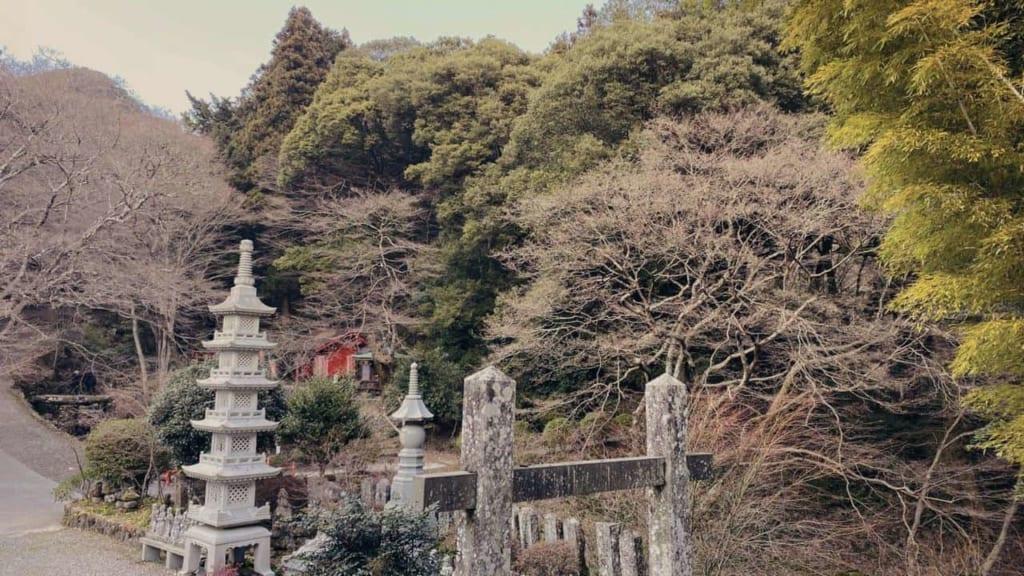 Japanese temple Futagoji at the sacred mountains of Kunisaki