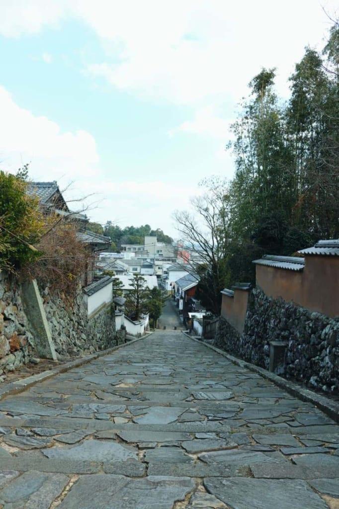 Impressive streets of the Samurai Town, Kitsuki, Oita, Japan