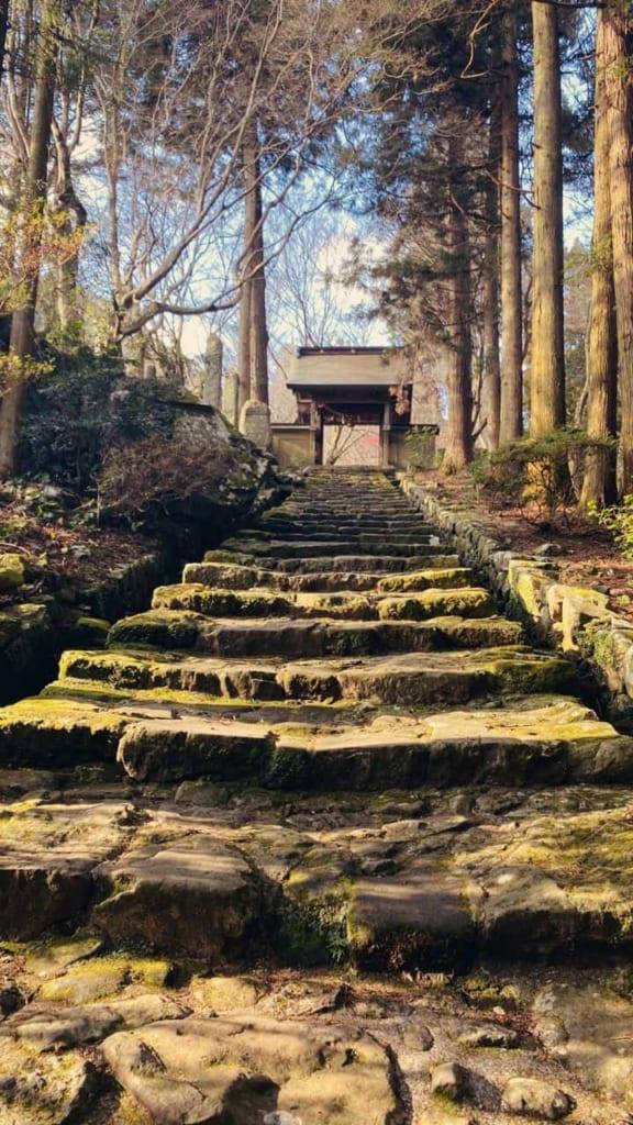 Main entrance of the Japanese temple Futagoji, Oita, Japan