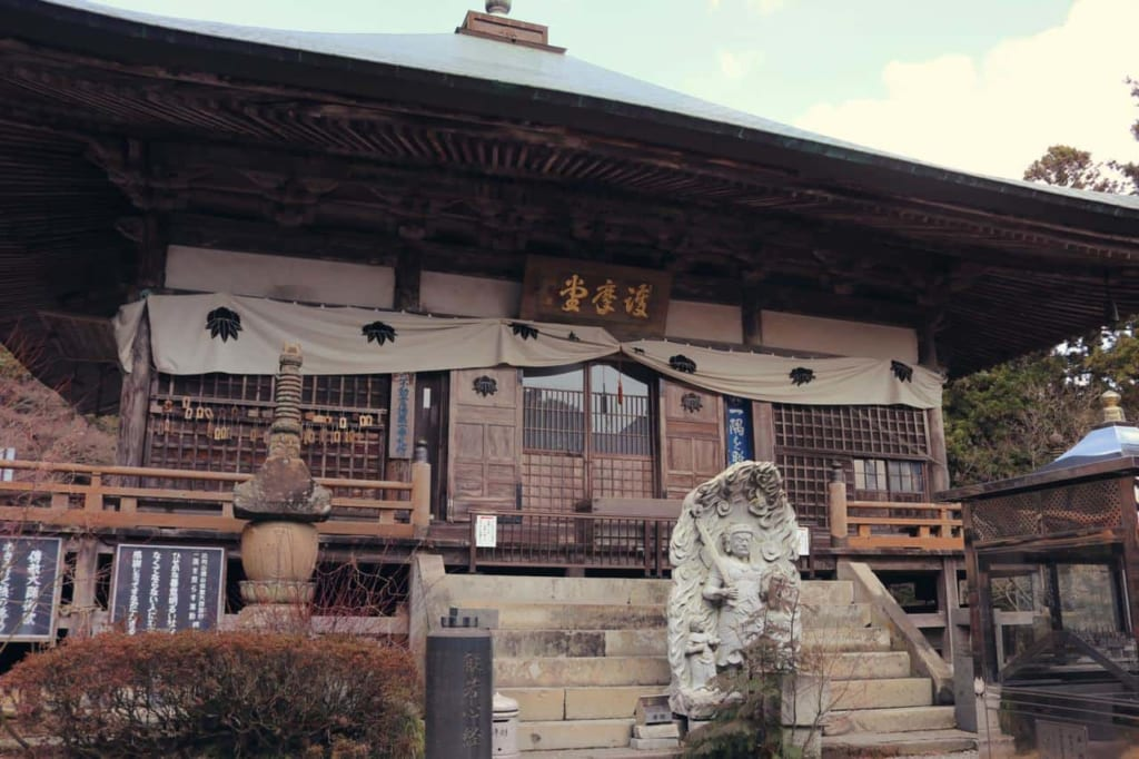 One of the buildings of the Japanese temple Futagoji, Oita, Japan
