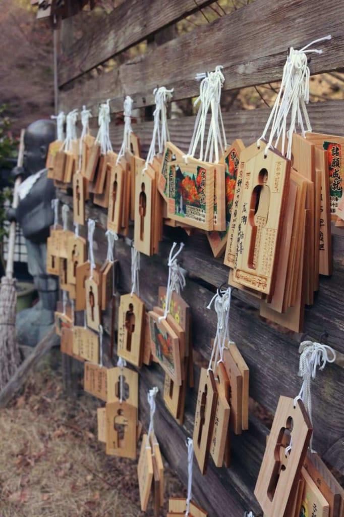 Ema in the Japanese temple Futagoji, Oita, Japan