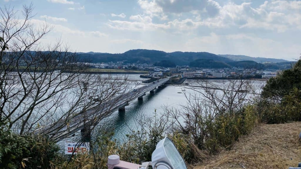 views from the top of the Kitsuki castle in Kitsuki, Oita, Japan
