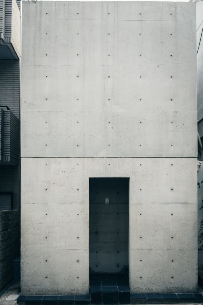 Sumiyoshi no Nagaya, the first home designed by Tadao Ando, Japanese architect from Osaka, Kinki, Japan