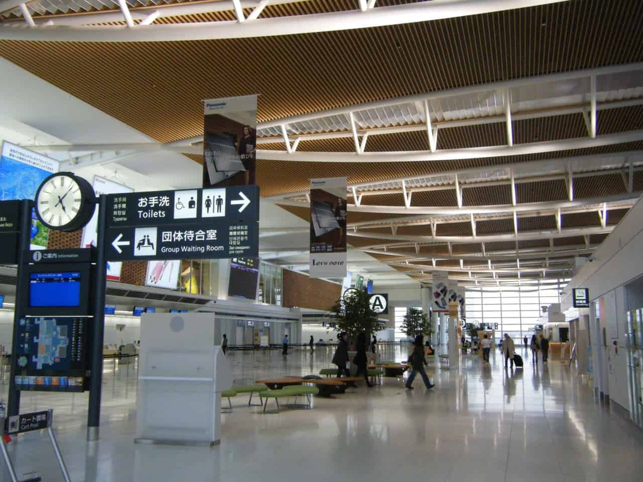 Departure gates at New Chitose Airport in Japan