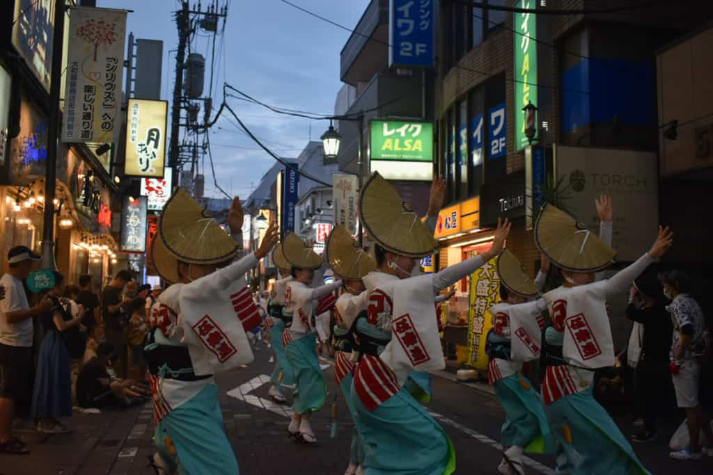 awa odori night dance
