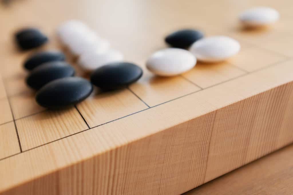 a japanese go board cut in shin kaya wood