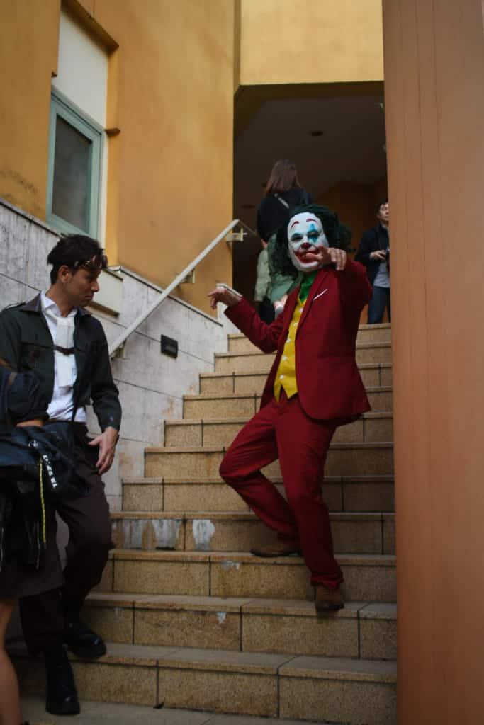 The Joker on stairs