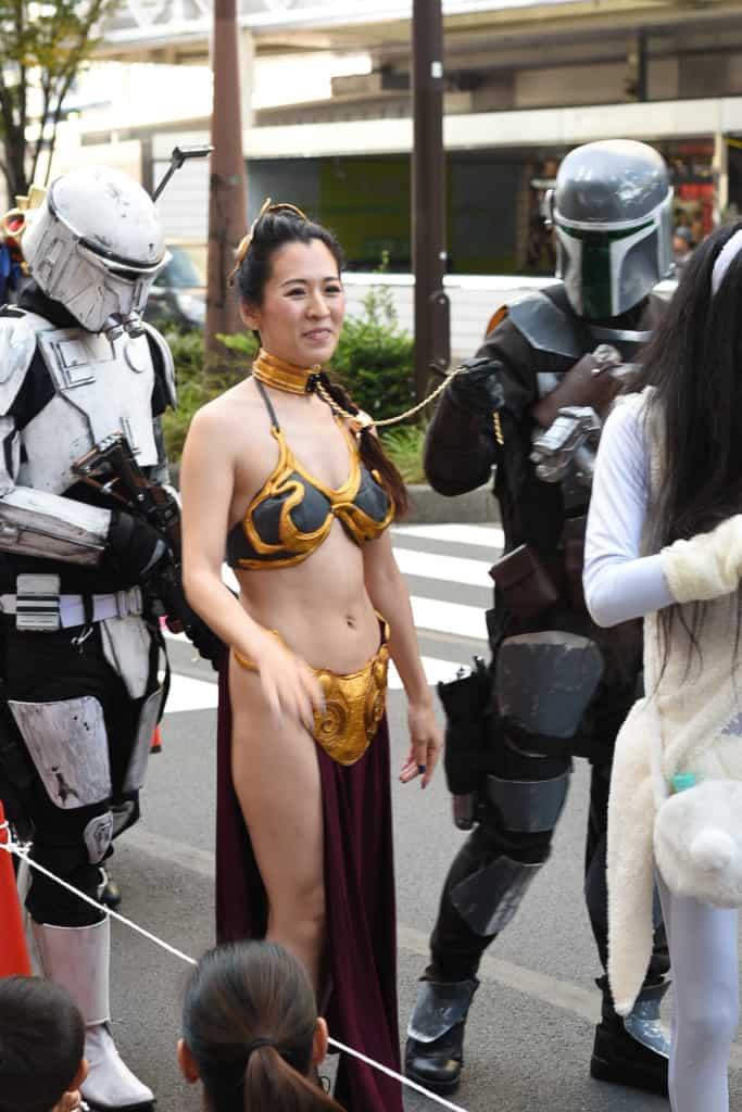 Kawasaki halloween parade 2019 princess Leia