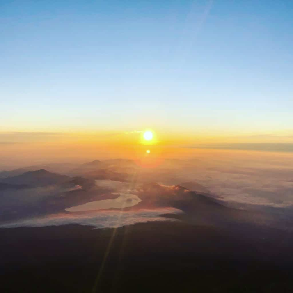 sunrise at Mount Fuji