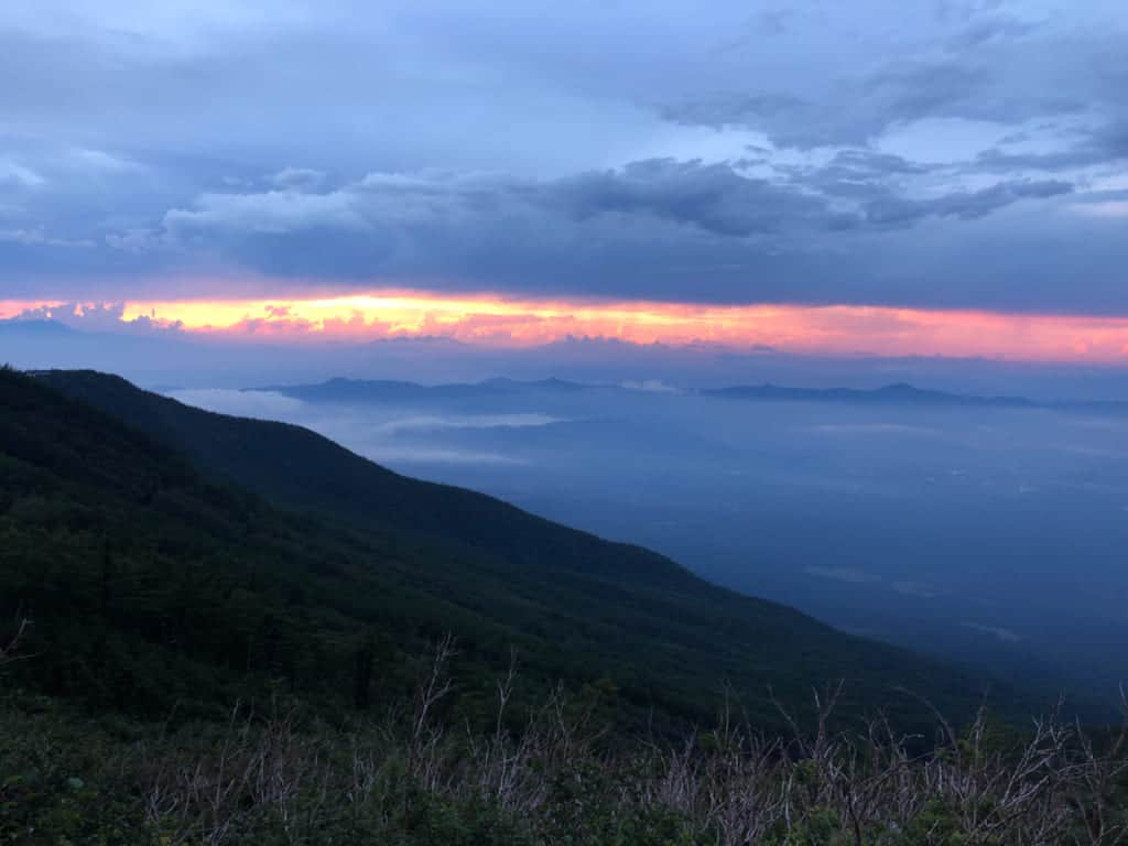 Sunset Along the Yoshida Trail on Mt Fuji