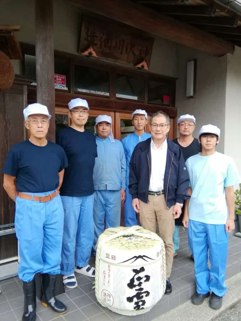 Shoetsu Sake staff and MOchizuki-san
