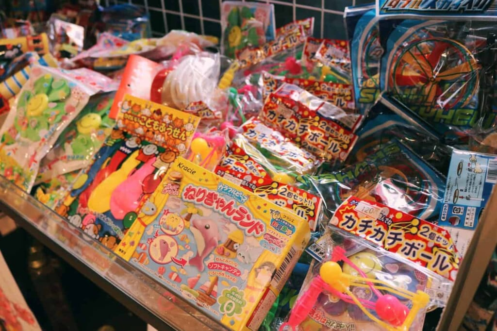 Different sweets of the candy shop in Akabane