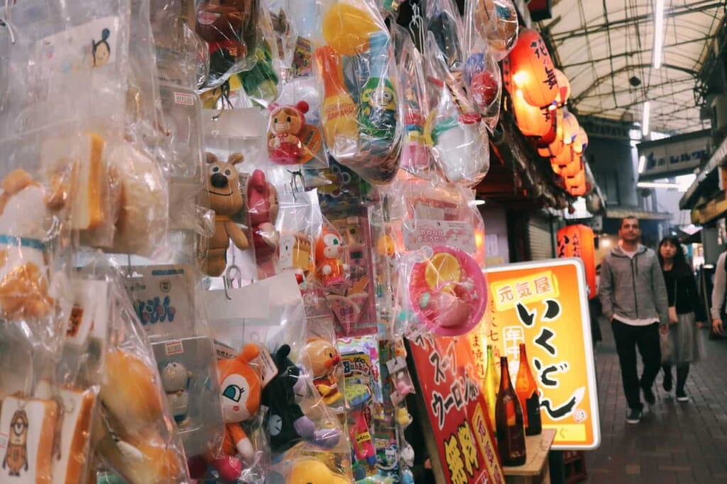 Retro style shops in the Ichibangai